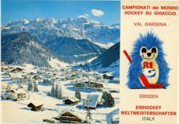 SELVA DI VAL GARDENA  BOLZANO  Ice Hockey Championships 1981  Mascotte Pucky - Bolzano