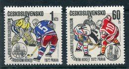 Y85 Czechoslovakia 1972 2065-2066 1972 Ice Hockey World And European Championships, Prague - Tchécoslovaquie