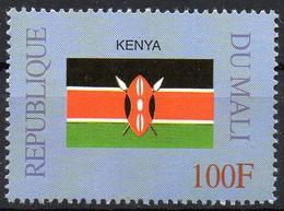 MALI 1999 - 1v - MNH** - Flag Of Kenya Flags Drapeaux Fahnen Bandiere Banderas флаги - Timbres
