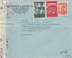 Bulgary Cover Censor Airmail 1940 - 1909-45 Königreich