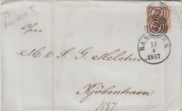 Danmark Cover 1857 - 1851-63 (Frederik VII)