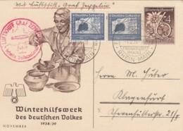 Deutsches Reich Postkarte Zeppelin 1938 Sudetenfahrt - Deutschland