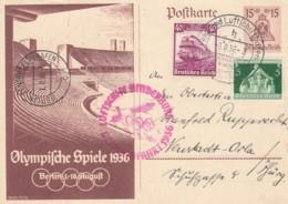 Deutsches Reich Postkarte Zeppelin 1936 Olympiafahrt - Deutschland