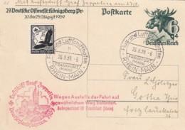 Deutsches Reich Postkarte Zeppelin 1939 Deutschlandfahrt - Deutschland