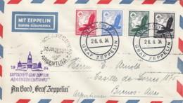 Deutsches Reich Brief Zeppelin 1934 Argentienienfahrt - Allemagne