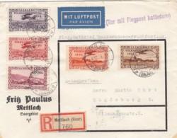 Deutsches Reich Saargebiet R Brief Luftpost 1934 - Deutschland