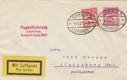 Deutsches Reich Danzig Brief 1927 Luftpost - Deutschland