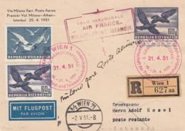Österreich Luftpost Postkarte 1951 - Airmail