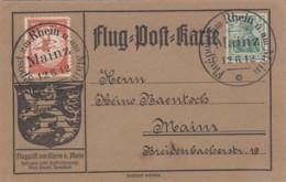 Deutsches Reich Flugpostkarte 12.6.12 Am Rhein Ua Main - Deutschland