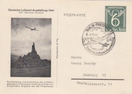 Deutsches Reich Luftpost Postkare 1941 - Allemagne