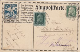 AD Bayern Flugpostkarte 1912 - Deutschland