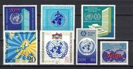DDR Between 1970 - 1988, International Organization Worl-map **, MNH - Vereine & Verbände