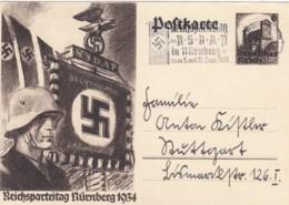 Deutsches Reich Postkarte 1934 P252 Stempel NSDAP - Deutschland