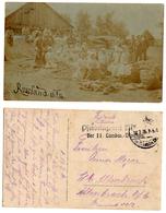 1916 Original WW1 14x9 Photo WWI Photography Vintage German Soldiers Woman Children Hospital Potato Russia Area (1049 - 1914-18