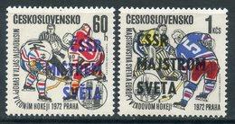 Y85 Czechoslovakia 1972 2084-2085 Czechoslovakia - The World Champion In Ice Hockey In 1972 - Tchécoslovaquie