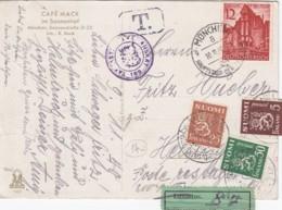 Deutsches Reich Postkarte 1940 Porto Finland - Deutschland