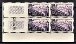 FRANCE 1955 - BLOC DE 4 TP NEUF** Y.T. N° 1041 - COIN DE FEUILLE / DATE - Coins Datés