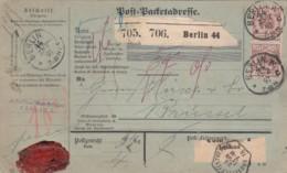 Deutsches Reich Paketkarte 1891 - Deutschland