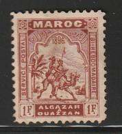 MAROC - ALCAZAR à OUEZZAN - N°8 Nsg (1896)  1fr Brun Rouge - Postes Locales & Chérifiennes