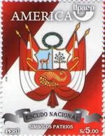Lote P2010-12, Peru, 2010, Sello, Stamp, 2 V, Upaep, Escudo, Bandera, Coat Of Arm, Flag - Perú