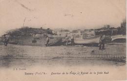 CPA Sanary - Quartier De La Plage Et Entrée De La Jetée Sud (avec Animation) - Sanary-sur-Mer