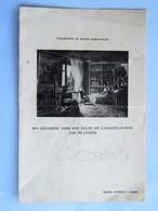 """Menu : Hôtel LUTETIA, Paris, Le 30 Mai 1933, Illustration """"Mme Récamier Dans Son Salon"""" - Menus"""