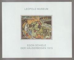 H 130) Österreich 2005 Mi# 2546 Bl.29 **: Der Häuserbogen - Egon Schiele, Maler - Moderne