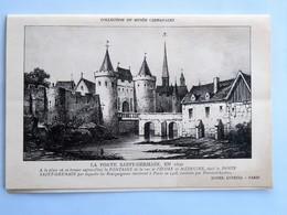 """Menu : Hôtel LUTETIA, Paris, Le 26 Mai 1936, Illustration """"La Porte Saint-Germain , En 1630"""" - Menus"""