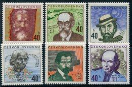 Y85 Czechoslovakia 1972 2073-2078 Writers. Poets Artists. - Tchécoslovaquie