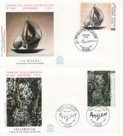 1987 - FRANCIA 2 FDC OPERE D' ARTE VEDI++++ - FDC