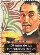 Lote P2009-15, Peru, 2009, Sello, Stamp, 400 Años De Los Comentarios Reales, Inca Garcilaso De La Vega, Cara - Perú