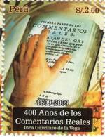 Lote P2009-16, Peru, 2009, Sello, Stamp, 400 Años De Los Comentarios Reales, Inca Garcilaso De La Vega, Libro, Book - Perú