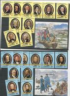LIBERIA Scott 901-943 (39+4blocs) O Cote 42,00$ 1981-2 Présidents Américains COMPLET - Liberia