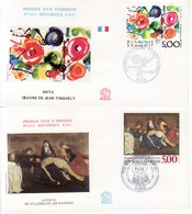 1988 - FRANCIA 2 FDC OPERE D' ARTE VEDI++++ - FDC