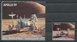 Apollo XV  - 2 Valeurs 1 Et 3R - Manama