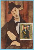 J.M; 25 - Carte Maximum Ou Carte Philatélique - N° 10 - Djibouti - Peinture - Art - Modigliani - Tableau - Arts