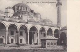 COUR ET FONTAINE DE LA MOSQUEE SULEYMANIE , No 194 , ED. BON MARCHE , T8B - Türkei