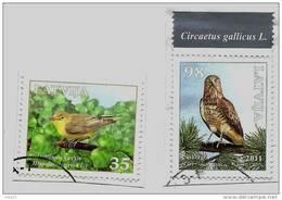 Eagle  LATVIA  - 2011 Bird Short- Toed Eagle + Icterine Warbler Used  (0) - Lettonie