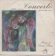 45T. SAINT-PREUX. Concerto Pour Une Voix (Danielle LICARI) - Variations - Vinyles