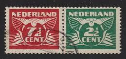 PAYS-BAS 1940:   Paire De Se-tenant,  Oblitérée - 1891-1948 (Wilhelmine)