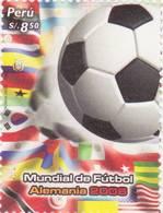 Lote P2006-12, Peru, 2009, Sello, Stamp, Mundial De Futbol, Alemania, Soccer, Foot Ball - Perú