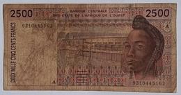 Cote D'Ivoire 2500 Francs - Côte D'Ivoire
