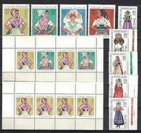 DDR 1971 + 1977, Sorbische Trachten **, MNH - Kostüme