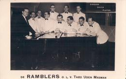 Fotokaart Carte Photo De Ramblers Olv Theo Uden Masman Disques Decca Platen Piano - Musique Et Musiciens