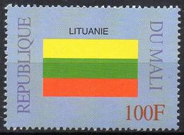 MALI 1999 - 1v - MNH** - Flag Of Lituania Lituanie Flags Drapeaux Fahnen Bandiere Banderas флаги - Timbres