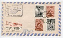 SOBRE HERCULES C-13 FUERZA AEREA ARGENTINA VUELOS ESPECIALES A LA ANTARTIDA 1969 ARGENTINA VIA AEREA -LILHU - Vols Polaires