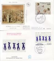 1989 - FRANCIA 2 FDC OPERE D' ARTE VEDI++++ - FDC