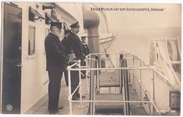 KAISER WILHELM II An Bord Von Schnelldampfer HAMBURG 17.9.1906 Fast TOP-Erhaltung - Familles Royales