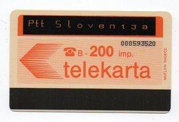Ptt Slovenija - Telekarta -  200 Imp. - Overprinted Ptt Slovenija - Slowenien