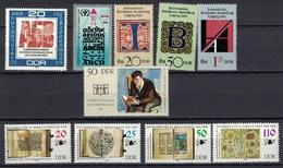 DDR Between 1972 - 1990, Alphabet Bücher Books Buchstaben **, MNH - Wissenschaften